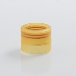 YFTK Replacement Top Cap + Bottom Cap for M-Atty Style RDA - Yellow, PEI