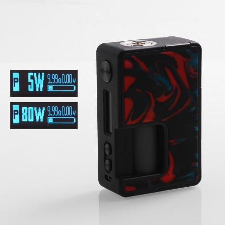 Authentic Vandy Vape Pulse BF 80W TC VW Squonk Box Mod w/ 30ml Refill Bottle - Lava Red, 5~80W, 8ml, 1 x 18650/20700, Vandy Chip