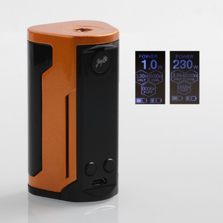 Authentic Wismec Reuleaux RX GEN3 Dual 230W TC VW Variable Wattage Box Mod - Gloss Gold, 1~230W, 2 x 18650