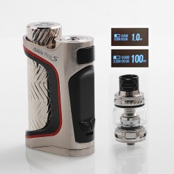 Authentic Eleaf iStick Pico S 100W TC VW Variable Wattage Mod + ELLO VATE Tank Kit - Silver, 1~100W, 1 x 18650 / 21700, 6.5ml