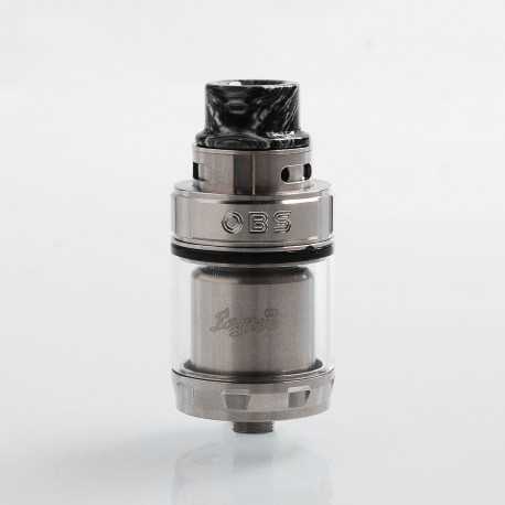 Authentic OBS Engine 2 RTA Rebuildable Tank Atomizer - Silver, Stainless Steel, 5ml, 26mm Diameter