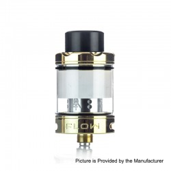 Authentic Wotofo Flow Sub Ohm Tank Atomizer - Gold, 316 Stainless Steel, 4ml, 24mm Diameter