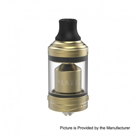 Authentic Vapefly Galaxies MTL RTA Rebuildable Tank Atomizer - Gold, Stainless Steel, 5ml, 22mm Diameter