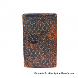 SXK Replacement Cover Panel for BB Style Box Mod - Black Honeycomb, Resin