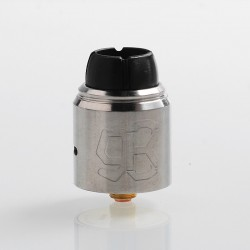 Authentic Lcovape 98K RDA Rebuildable Dripping Atomizer w/ BF Pin - Silver, 316 Stainless Steel, 24.5mm Diameter