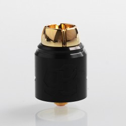 Authentic Lcovape 98K RDA Rebuildable Dripping Atomizer w/ BF Pin - Black, 316 Stainless Steel, 24.5mm Diameter