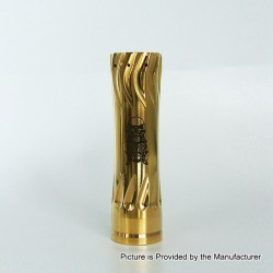 AV Complyfe Takeover Style Hybrid Mechanical Mod - Gold, Brass, 1 x 18650
