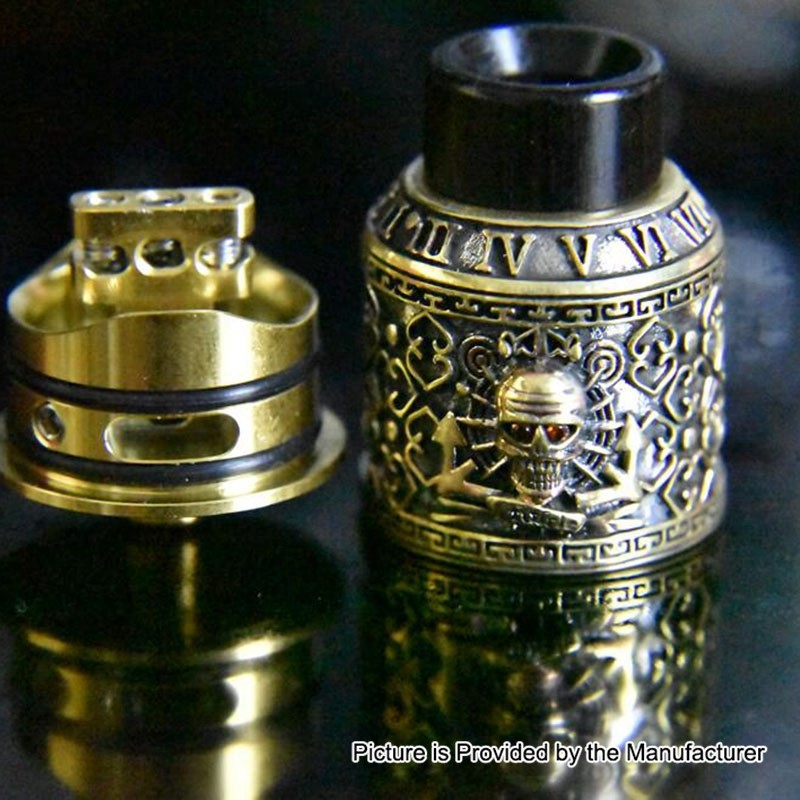Authentic Riscle Pirate King Rda Cupronickel 24mm Squonk Atomizer