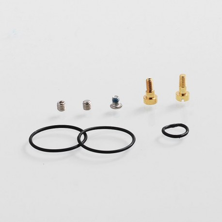 Authentic GAS Mods Replacement 510 Standard Pin + Bottom Feeder Pin Kit for G.R.1 GR1 RDA - Gold, Stainless Steel