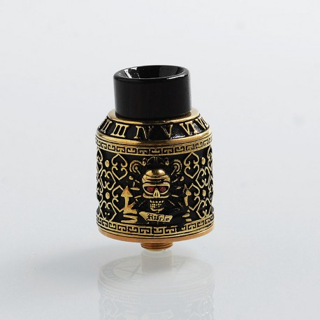 Authentic Riscle Pirate King RDA Rebuildable Dripping Atomizer w/ BF Pin - Brass, Brass + Stainless Steel, 24mm Diameter
