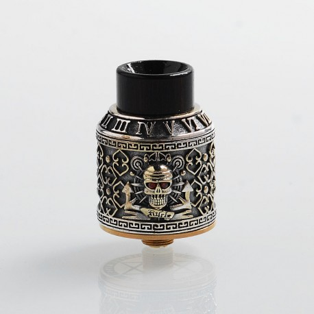 Authentic Riscle Pirate King RDA Rebuildable Dripping Atomizer w/ BF Pin - Silver, Cupronickel + Stainless Steel, 24mm Diameter