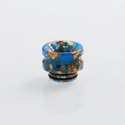 810 Replacement Drip Tip for TFV8 / TFV12 Tank / 528 Goon / Kennedy / Reload RDA - Blue + Gold, Resin, 14mm