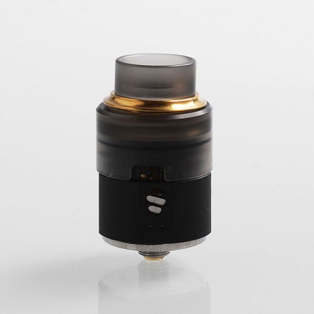 Authentic Vapefly Wormhole RDA Rebuildable Dripping Atomizer w/ BF Pin - Black, Stainless Steel + PMMA, 24mm Diameter