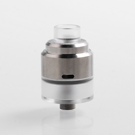 Vapeasy Biatch Style RDTA Rebuildable Dripping Tank Atomizer w/ BF Pin - Silver, 316 Stainless Steel + PC, 1.5ml, 22mm Diameter
