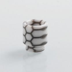 Authentic Blitz Snake Skin 810 Drip Tip for SMOK TFV8 / TFV12 Tank Atomizer - White, Epoxy Resin, 17.7mm