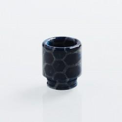 Authentic Blitz Snake Skin 810 Drip Tip for SMOK TFV8 / TFV12 Tank Atomizer - Dark Blue, Epoxy Resin, 17.7mm