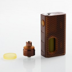 Authentic Wismec Luxotic 100W Squonk Box Mod + Tobhino BF RDA Kit - Bronze Honeycomb, 7.5ml, 1 x 18650, 22mm Diameter