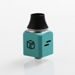 Authentic Wotofo Atty Cubed RDA Rebuildable Dripping Atomizer - Tiffany Blue, Stainless Steel, 22mm Diameter