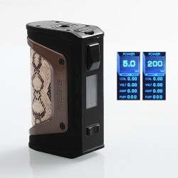 Authentic GeekVape Aegis Legend 200W TC VW Variable Wattage Box Mod - Snake Skin, 5~200W, 2 x 18650