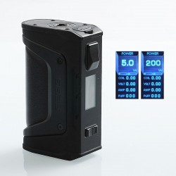 Authentic GeekVape Aegis Legend 200W TC VW Variable Wattage Box Mod - Stealth Black, 5~200W, 2 x 18650