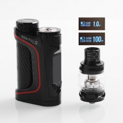 Authentic Eleaf iStick Pico S 100W TC VW Variable Wattage Box Mod + ELLO VATE Tank Kit - Black, 1~100W, 1 x 18650 / 21700, 6.5ml