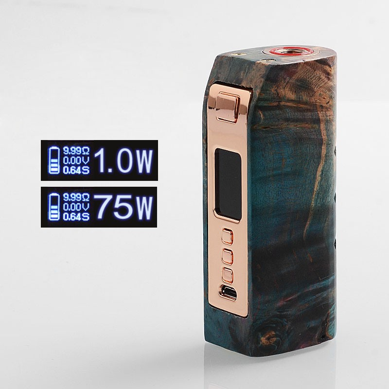 Authentic Yiloong Fog Box V2 DNA75C 75W Stabilized Wood 20700 TC Mod