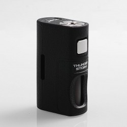 Authentic ThunderHead Creations THC Thunder Storm BF Squonker Mechanical Box Mod - Black, PPS, 8ml, 1 x 18650 / 20700 / 21700