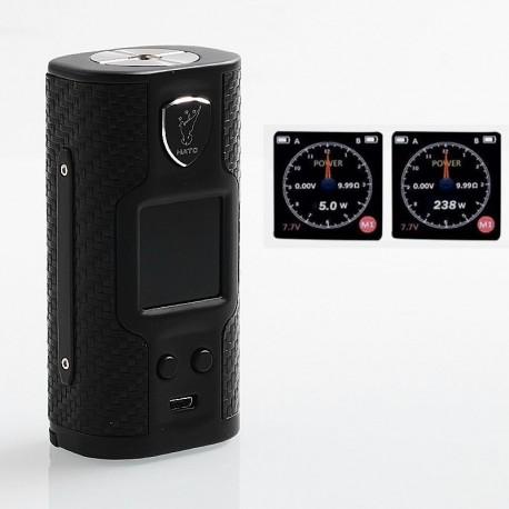 Authentic Soomook Hato K-One 238W TC VW Variable Wattage Box Mod - Matte Black, Zinc Alloy, 5~238W, 2 x 18650