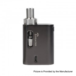 Authentic Tesla AT 45W 900mAh Mod + AT Tank Starter Kit - Black, Zinc Alloy, 1.5ml, 1.0 Ohm