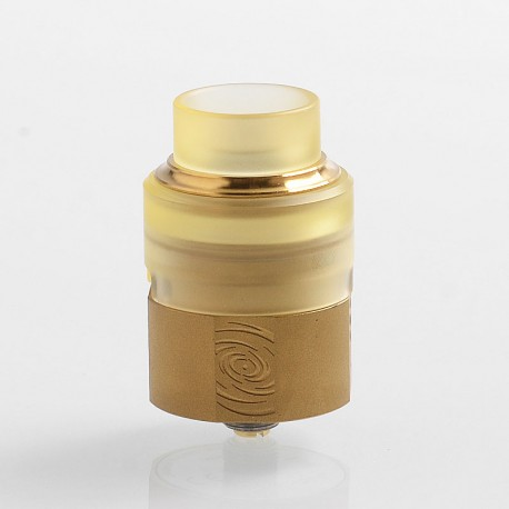 Authentic Vapefly Wormhole RDA Rebuildable Dripping Atomizer w/ BF Pin - Gold, Stainless Steel + PMMA, 24mm Diameter