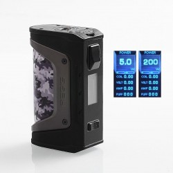 Authentic GeekVape Aegis Legend 200W TC VW Variable Wattage Box Mod - Camo, 5~200W, 2 x 18650