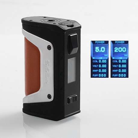 Authentic GeekVape Aegis Legend 200W TC VW Variable Wattage Box Mod - Silver, 5~200W, 2 x 18650