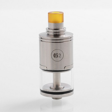YFTK Genny 2 Style RTA Rebuildable Tank Atomizer - Silver, 316 Stainless Steel + PEI, 4.2ml, 22mm Diameter