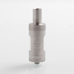 Authentic OBS T-VCT Sub Ohm Tank Clearomizer w/ RBA Coil Head - Silver, Stainless Steel + Glass, 6ml, 0.5 Ohm, 22mm Diameter