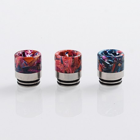 810 Replacement Drip Tip for TFV8 / TFV12 Tank / 528 Goon / Reload - Random Color, Resin + Stabilized Wood + SS, 17.7mm