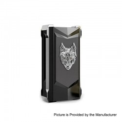 Authentic Snowwolf Mfeng Limited Edition 200W TC VW Variable Wattage Box Mod - Black + Silver, 10~200W, 2 x 18650