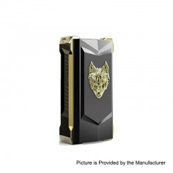 Authentic Snowwolf Mfeng Limited Edition 200W TC VW Variable Wattage Box Mod - Black + Gold, 10~200W, 2 x 18650