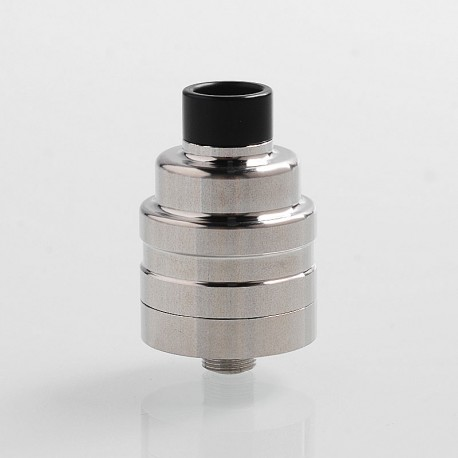 Duetto Reborn V2 Style RDA Rebuildable Dripping Atomizer w/ BF Pin - Silver, Stainless Steel, 22mm Diameter