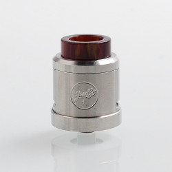 Authentic Wismec Guillotine V2 RDA Rebuildable Dripping Atomizer w/ Bf Pin - Red Resin, Stainless Steel, 24mm Diameter