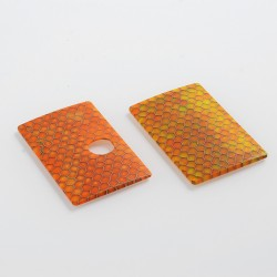 SXK Replacement Cover Panel for BB Style Box Mod - Orange Honeycomb, Resin