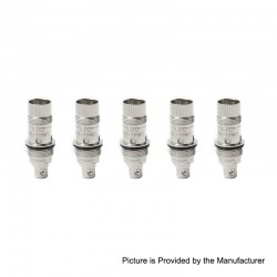 Authentic Tesla Replacement Coil Head for AT Sub Ohm Tank Clearomizer - 1.0 Ohm (10~15W) (5 PCS)