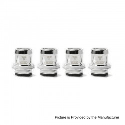 Authentic Tesla Replacement Coil Head for Tallica TS-XX Sub Ohm Tank Clearomizer - 0.18 ohm (60~110W) (4 PCS)