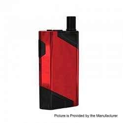 Authentic Wismec HiFlask 2100mAh All-in-one Pod System Starter Kit - Red, 5.6ml, PETG + Silicone