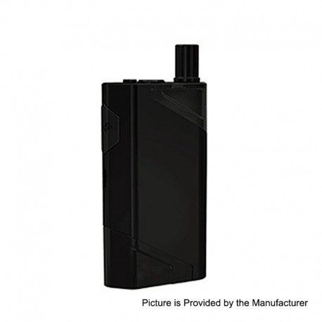 Authentic Wismec HiFlask 2100mAh All-in-one Pod System Starter Kit - Black, 5.6ml, PETG + Silicone