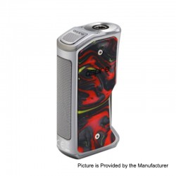 Authentic Aspire Feedlink Revvo Squonk Box Mod - Silver + Sunset Red, 1 x 18650, 7ml