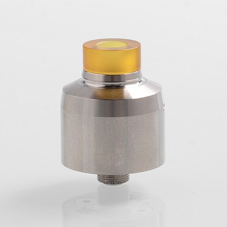 Krma Style RDA Rebuildable Dripping Atomizer w/ BF Pin - Silver, Stainless Steel, 22mm Diameter