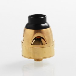 Authentic Asmodus Galatek RDA Rebuildable Dripping Atomizer w/ BF Pin - Gold, Stainless Steel, 24mm Diameter