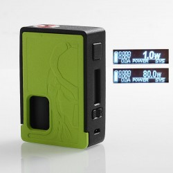 Authentic Yiloong Predator 80W TC VW Variable Wattage Squonk Box Mod - Black + Green, ABS, 1~80W, 1 x 18650, 8ml