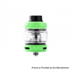 Authentic Wotofo Flow Pro SubTank Sub Ohm Tank Clearomizer - Green, Stainless Steel, 5ml, 25mm Diameter, 0.18 Ohm