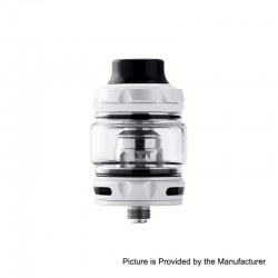 Authentic Wotofo Flow Pro SubTank Sub Ohm Tank Clearomizer - White, Stainless Steel, 5ml, 25mm Diameter, 0.18 Ohm